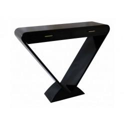 Console Icone 2 tiroirs noir