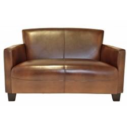 Canapé Nogent cuir vintage