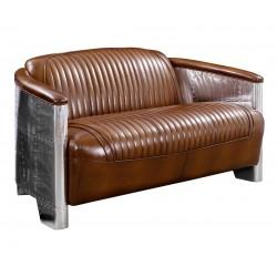 Canapé DC3 cuir vintage