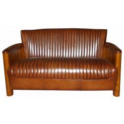 Canapé cognac cuir vintage