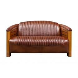 Canapé pirogue cuir vintage