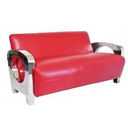 Canapé Sydney cuir rouge