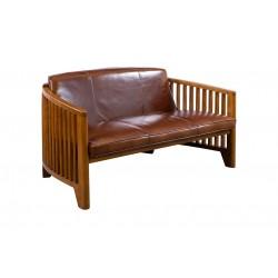 Canapé Biarritz cuir vintage
