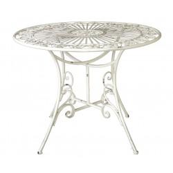 Table Ronde Fleur Blanche