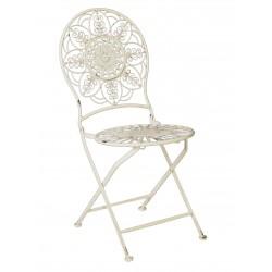 Chaise Pliante Fleur Blanche