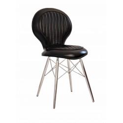 Chaise DC3 cuir noir