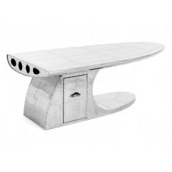 Table basse à tiroir alu WING