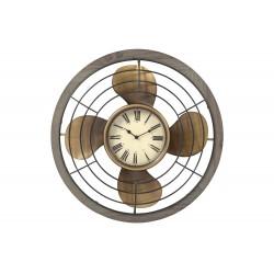 Horloge hélice vieilli doré