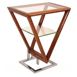 Table d'appoint Iso noyer