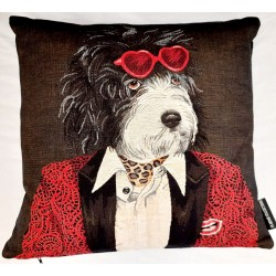 Coussin Rockdogs red jacket