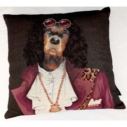 Coussin Rockdogs purple jacket