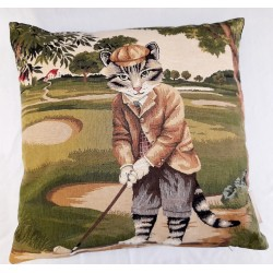 Coussin Golf Cats Put