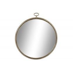 Miroir métal cadre doré