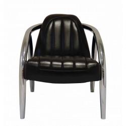 Fauteuil Quad cuir noir