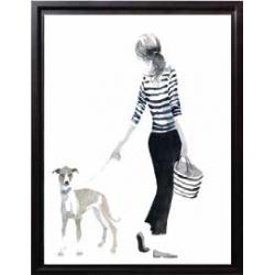 Une fille avec son chien 1