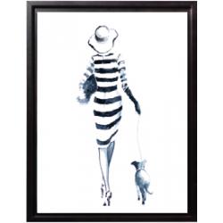 Une fille avec son chien 2