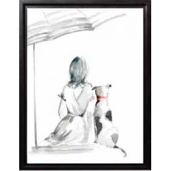 Une fille avec son chien 3