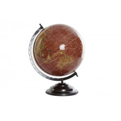 Globe terrestre rouge