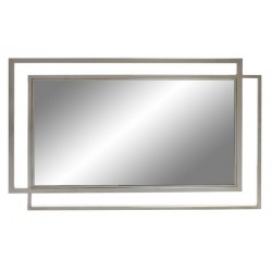 Miroir verre acier chromé