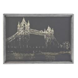 Tableau métal verre Londres...