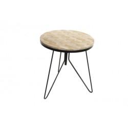 Table bois naturel et métal
