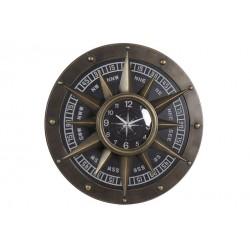 Horloge métal boussole