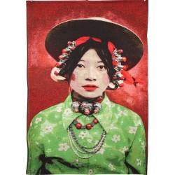 Tenture fille tibétaine 70...