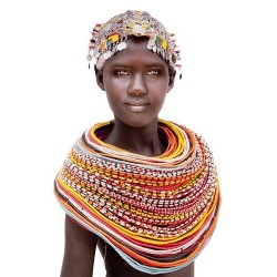 Tenture Samburu fille Kénya...