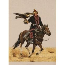 Tenture chasseur Mongols...